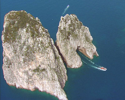 Capri is one of the jewels among the islands of the bustling Naples seaport. CREDIT: WLIW New York